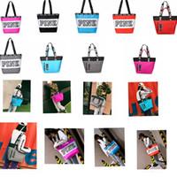 Wholesale interior design shops - 9 design Pink Letter Handbags Women Shoulder Bags Love Pink Waterproof Shopping Bag Handbag Travel Duffle Bags Beach Bag KKA4095