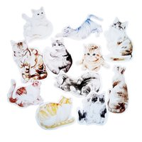 Wholesale greeting card packs - 30 Pcs pack Novelty Cats Shaped Postcard Christmas Birthday Greeting cards Lovely Cute Gift cards Decorative cards