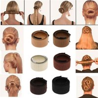 Wholesale donut hair bun styles for sale - Women Girls PC Hair Styling Donut Former Foam French Twist Magic DIY Tool Bun Maker Styling Accessories Colors