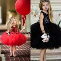 Wholesale vintage kids tea for sale - Group buy 2019 Vintage Flower Girl Dresses For Boho Weddings Black Sequins Lace Middle East Dubai Princess Kids First Communion Gowns Birthday Cheap