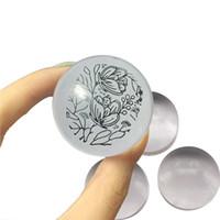 ingrosso cina chiodi di acciaio inossidabile-2018 Unico nuovo design caldo Pure Clear Jelly Silicone Nail Art Stamper Testa trasparente 2,8 centimetri Nail Stamp stamping strumenti