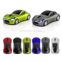 Wholesale Usb Wireless Receiver For Laptop - 2.4Ghz Wireless Sports Car Shape Optical Mouse 1600DPI USB Receiver For PC Laptop #H029# Drop shipping