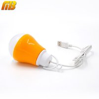 Wholesale USB LED Bulb Reading Light Portable Night Light V DC W Work With Power Bank Notebook Camping Outdoor Light LED Lamp