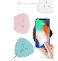 Wholesale 2018 W Wireless Charger Qi Fast Charging Ultra Thin Inch Portable wireless charging Pad for iPhone X Plus Samsung Galaxy S
