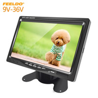 Wholesale headrest monitors resale online - FEELDO Car DC9V V Inch Color TFT LCD Rear View Monitor Headrest Stand alone Display For Auto DVD VCD Reversing Camera