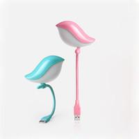 Wholesale novelty bird gifts for sale - Group buy USB Night Lights Novelty Gift Lovely Bird LED Lighting Portable Mini For Laptop Keyboard Children Eye Protection Lamp Q0441