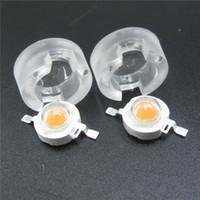 Wholesale led lens reflectors resale online - 13mm LED IR Mini Lens Degree Integrated Holder W W W Synthetical LED Power Lenses Reflector Collimator