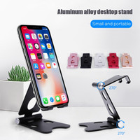 Wholesale phone holder desktop stand for sale – best Aluminum Desktop Mobile Phone and Tablet Stand Holder with Degree Rotation and Silicone Pads for Inch Device