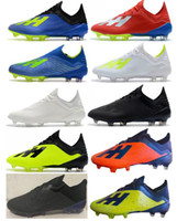 Wholesale low ankle shoes men for sale - Group buy 2018 New Cheaper Colors Mens Soccer Shoes X FG Low Ankle Soccer Cleats Speedmesh X18 Messi Speed Mesh Outdoor Football Boots