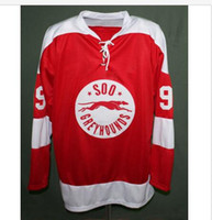 Wholesale Marie S - Sault Ste Marie Soo Greyhound #99 WAYNE GRETZKY Hockey Jersey Embroidery Stitched Customize any number and name Jerseys.