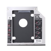 "Wholesale Ssd Hard Disk For Desktop - Universal 9.5mm 2nd Hard Disk Drive Caddy Tool Free SATA 2.5"" HDD SSD Case Enclosure hard disk Box for Laptop Desktop CD DVD-ROM"