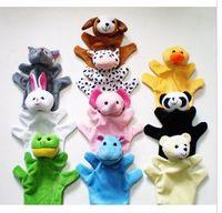 zoo spielzeug großhandel-Marionette Finger Spielzeug Unisex Spielzeug für Kinder und Kinder Stofftier Set Plüsch Handpuppen Theater Puppen Zootier Panda Cute Kwaii
