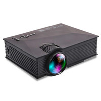 Wholesale mini laptop video resale online - UC46 UC46 Lumens LED Mini Projector Portable WiFi LCD Projector Home Cinema Theater Support P for TV Laptop iPhone Andriod Phone
