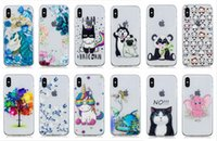 Wholesale cover for cell phone apple cat online – custom Relief Soft TPU Case For Iphone XR XS MAX X S SE S Silicone Flower Dog Elephant Panda Owl Tree Cat Unicorn Cell Phone Skin Cover