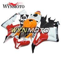 красный оранжевый обтекатель оптовых-Мотоцикл ABS обтекатели кузовного для Honda CBR600RR F5 Год 2007 2008 07 08 Полный комплект обтекателя New Orange Red White
