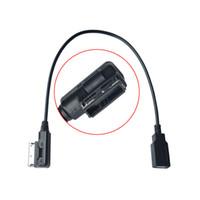 cable adaptador usb audi al por mayor-Cable USB AUX del coche Música MDI MMI AMI a USB Interfaz de audio AUX Adaptador Cable de datos para AUDI A3 A4 A5 A6 Q5