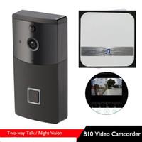 Wholesale wireless video intercom monitors - WIFI Video HD Security Camera Doorbell Video B10 Real-Time Intercom PIR Motion Detection Smart Monitor Alarm with Doorbell Option 10pc lot