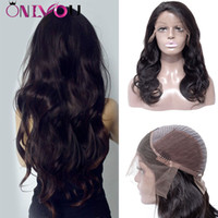 Wholesale body wave wig cap hairstyles online - Newest Density Human Hair Lace Front Wigs Inch Body Wave Human Hair Wigs Cheap Brazilian Virgin Hair Wigs Adjustable Cap