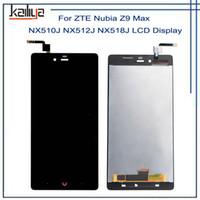 zte z9 max venda por atacado-Para zte nubia z9 max nx510j nx510j nx518j display lcd + 5.5 polegada preto touch screen digitador assembléia repairparts para zte z9 max