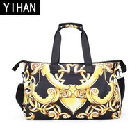Wholesale Digital Print Handbags - wholesale brand package personalized digital 3D printing handbag fashion bag for Oxford printing travel bag high quality 3D digital printing
