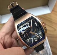 Wholesale military clock time - 2018 Top Men Brand Farak Muller Watch Sport Fashion Mens watches Quartz Military Watch chronograph Man Clock Dress wristwatch luxury