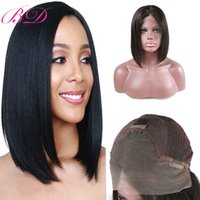Wholesale highest quality indian human hair for sale - Fast delivery frontal lace Bob wig human hair natural color natural straight high quality lace front wigs for women