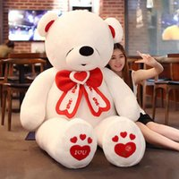 Wholesale Life Size Toy Christmas - life size giant teddy bear stuffed big valentines day bear i love you toys animals bears doll