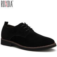ingrosso oxford scarpe da lavoro-ROXDIA più il formato 39-48 uomini casuali degli appartamenti di cuoio degli uomini casuali vestito impermeabile oxford scarpe da uomo lace up per lavoro mocassini maschili RXM098