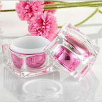 производители макияжа оптовых-1PC 30g Acrylic Crystal Cream Bottle Cosmetic Packing Jar Emulsion Bottle Manufacturers Selling High-end Makeup Empty Cream Jar