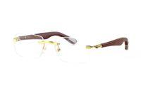 hochwertige plastiktiere großhandel-2018 neue Unisex Grandm Buffalo Horn Kunststoff Glas Tier Design Holzbein Marke beste Qualität 6 Farben Holzbein glänzend Gold Rahmen Brillen