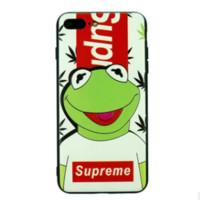rana telefono al por mayor-Funda de teléfono de diseñador al por mayor para Samsung IPhone X 6 / 6S 6plus / 6S Plus 7/8 7plus / 8plus OPPO VIVO Funda de marca Samsung Funda de teléfono con cubierta de rana