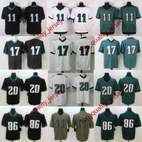 Wholesale Mens American Football Jerseys - DHL ePacket Shipping Mens American Football #11 Jersey Wholesale Green White Black #86 #20 American Football Game Elite Limited Jerseys