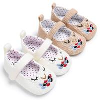 Wholesale kitten princess - Toddler Baby Newborn Girl Soft Soled Little Girls Prewalker Princess Sole Kitten Shoes 0-18M