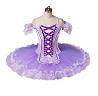 Wholesale spandex fairy costume for sale - Adult Lilac Fairy Doll Pancake Tutus Girls Classical Stage Costumes For Cometition BT8964