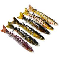 señuelos duros para la pesca baja al por mayor-Señuelos de bajo articulado Los cebos duros tienen dos ganchos robustos con granos de acero Super Mini dentro para un tiro estable Aparejos de pesca 14sb ZZ