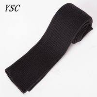 Wholesale Dark Purple Gloves - YUNSHUCLOSET 2017 Autumn and winter New pattern fashion ladies knitted cashmere gloves Straight tube style free shipping