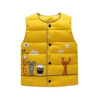 Wholesale Short Down Jacket Hood - Children's down jacket vest boys and girls children's clothing small children's clothing