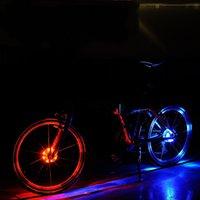 umweltfreundliche batterien großhandel-Nachtfahren führte Rad-Warnlicht mit multi Farbbatterie-Rücklicht-Antiabnutzung Eco freundliche Fahrrad-Zusatz-Art- und Weiselampe 13cj jj