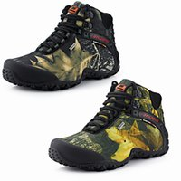 Wholesale mountaineering wear - Outdoor mountaineering shoes waterproof and wear-resistant camouflage boots Resistant Breathable Fishing Shoes Climbing Outdoor Shoes Free S