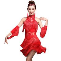 traje de flecos de las niñas al por mayor-2018 Fringe Roaring 20'S 1920 Era Latin DressHandSleeve Salsa Flapper Girl Charleston Disfraces de Halloween Prom Dress Plus Size