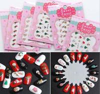 ingrosso modelli adesivi per unghie-Stili di Natale 3D Nail Art Adesivi per il trasferimento dell'acqua Punte complete colorate Progettato timbratura Template Image Stencil Nails Strumento