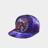 Wholesale wholesale animal print hats online - Men Popular Cap D Printing Starry Sky Cartoon Characters Soft Women Hats Fashion Designer Brand Caps Hip Hop gf hh