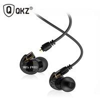 kulaklık kulak tıkaçları toptan satış-Plug-in hareketli bobin w6 pro kulak mic ile kablolu kablolu kontrol kulaklık bas hifi sihirli ses kulaklık