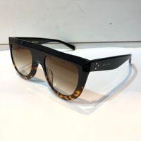 neue designerrahmen großhandel-neue luxus frauen markendesigner 41398 sonnenbrillen audrey goggle sonnenbrille wickeln design unisex modell großen rahmen leopard doppelte farbe rahmen