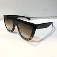 unisex güneş gözlüğü toptan satış-Yeni lüks kadınlar marka tasarımcısı 41398 güneş gözlüğü audrey gözlüğü güneş gözlüğü wrap tasarım unisex modeli büyük çerçeve leopar çift renk çerçeve