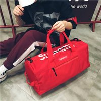 Wholesale tote bags for beach - Sport Bags For Women Handbags Large Capacity Travel Duffle Striped Waterproof Beach Bag Shoulder for Outdoor Business