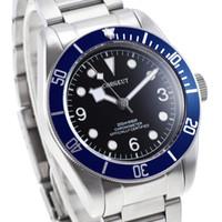 pulseiras de safira azuis venda por atacado-41mm Corgeut preto mostrador estéreo marcas douradas azul Bezel de safira pulseira de vidro relógio MIYOTA Automático dos homens
