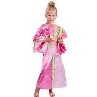 vestidos de meninas asiáticas venda por atacado-Traje de gueixa para crianças Meninas vestido japonês para crianças