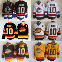 Men Vancouver Canucks Ice Hockey Jerseys Cheap 10 Pavel Bure Vintage  Authentic Stitched Jerseys Mix Order 66ecf4245