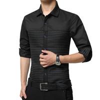 e95cd574cd2 2018 Mens Dress Shirt Classic Patchwork Polka Dot Long Sleeve Casual Shirts  Men Slim Fit Korean Style Formal Business Shirts